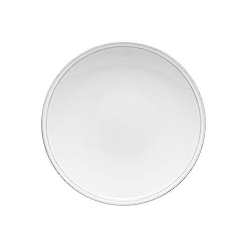 Costa Nova Friso Collection Stoneware Ceramic Dinner Plate 11 White 0
