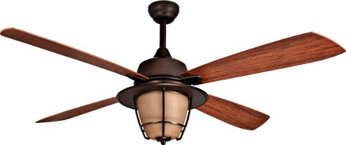 Craftmade MR56ESP4C1 Morrow Bay 56 Outdoor Ceiling Fan With 120 Watts Light Kit 4 ABS Blades Espresso 0