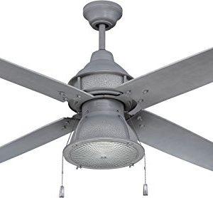 Craftmade Outdoor Ceiling Fan With CFL Light PAR52AGV4 Port Arbor 4 Blade 52 Inch Wet For Patio Galvanized 0 300x278