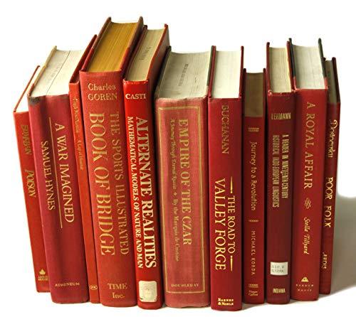 Decorative Books Authentic Decor Monochromatic Red 0 0