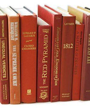 Decorative Books Authentic Decor Monochromatic Red 0 1 300x360
