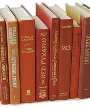 Decorative Books Authentic Decor Monochromatic Red 0 2 300x360