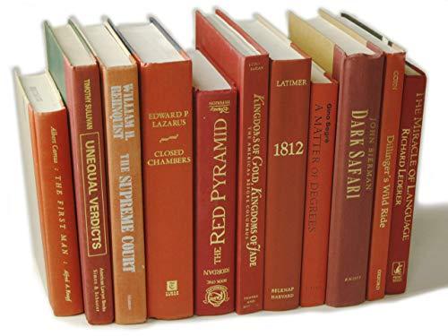 Decorative Books Authentic Decor Monochromatic Red 0 2