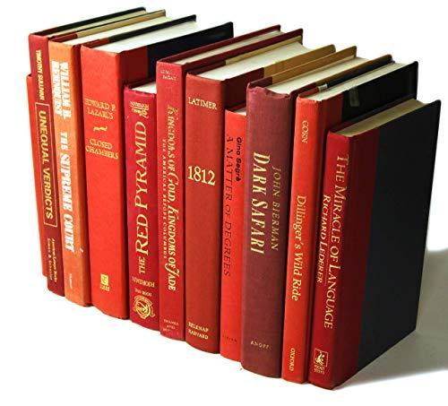 Decorative Books Authentic Decor Monochromatic Red 0 3