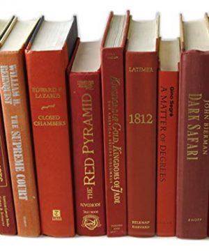 Decorative Books Authentic Decor Monochromatic Red 0 4 300x360