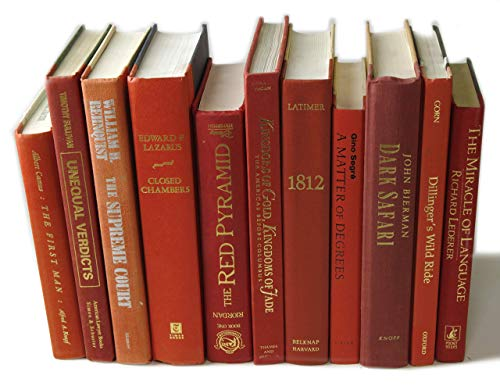 Decorative Books Authentic Decor Monochromatic Red 0 4