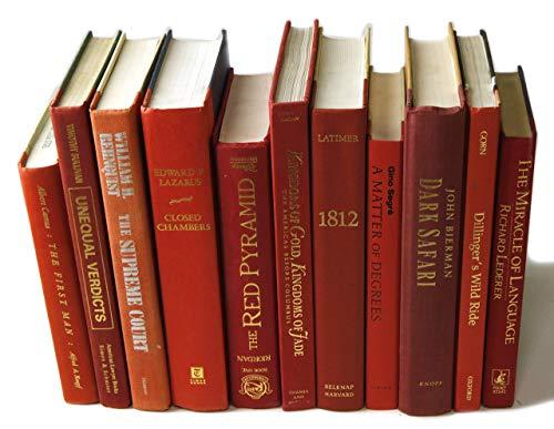 Decorative Books Authentic Decor Monochromatic Red 0 5