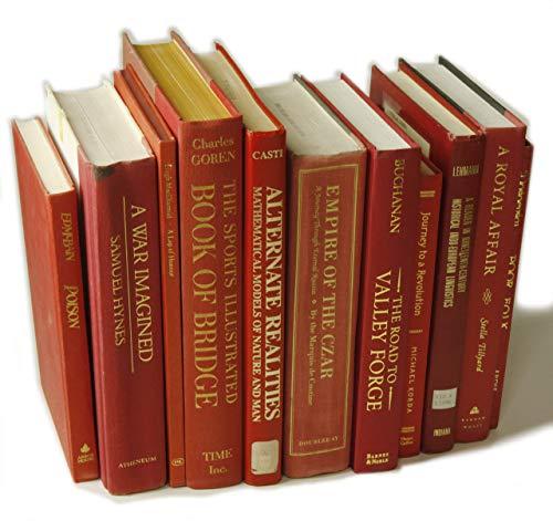 Decorative Books Authentic Decor Monochromatic Red 0