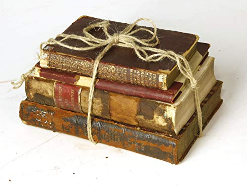 Decorative Books For Designers Red Vintage Ultra Distressed 0 1