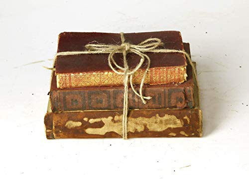 Decorative Books For Designers Red Vintage Ultra Distressed 0