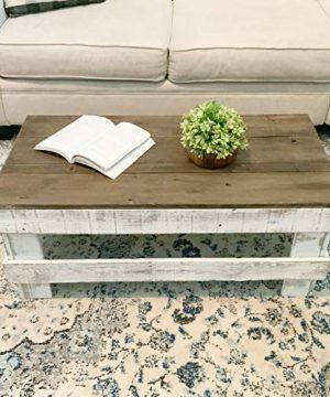 Del Hutson Designs Rustic Barnwood Coffee Table DarkWhite 0 300x360