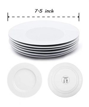 Dinner Plates Sets Of 6 For Salad And Desserts White Round Flat Plates For Party Home Kitchen And Restaurant 75 Inch Mother Day Gfit 0 0 300x360