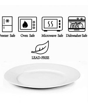 Dinner Plates Sets Of 6 For Salad And Desserts White Round Flat Plates For Party Home Kitchen And Restaurant 75 Inch Mother Day Gfit 0 1 300x360