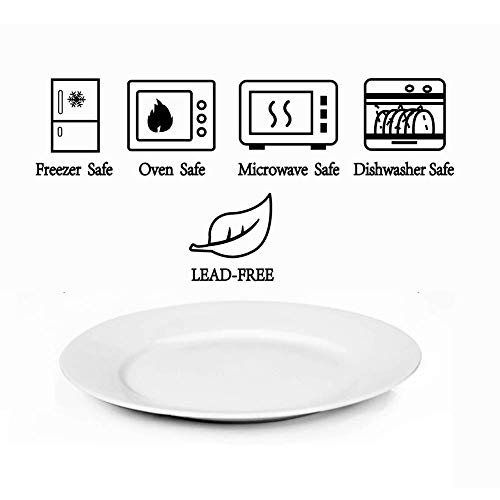 Dinner Plates Sets Of 6 For Salad And Desserts White Round Flat Plates For Party Home Kitchen And Restaurant 75 Inch Mother Day Gfit 0 1