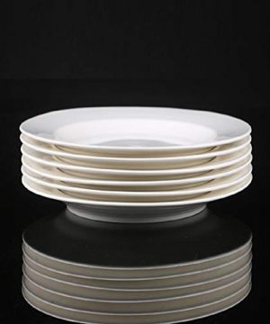 Dinner Plates Sets Of 6 For Salad And Desserts White Round Flat Plates For Party Home Kitchen And Restaurant 75 Inch Mother Day Gfit 0 4 300x360