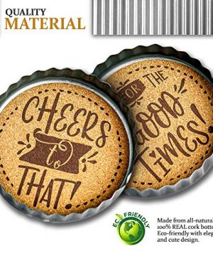 Exultimate Country Farmhouse Rustic Coasters For Drinks With Galvanized Rim Cork Bottom Absorbent Drink Coasters Set Of 4 0 2 300x360