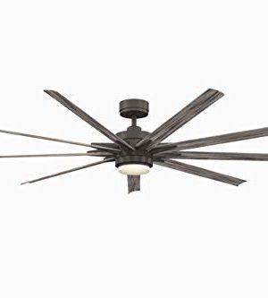 Fanimation FPD8159GRW Odyn Ceiling Fan With LED Light Kit 84 Matte Greige 0 300x333