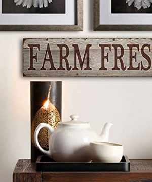 Farm Fresh Retro Vintage Tin Bar Sign Country Home Decor 1575 X 4Decoration Vintage Metal Signs For Home House Yard Door Wall DecorPre Cut Holes For Easy Wall Hanging 0 3 300x360