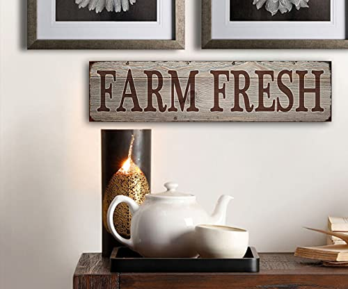 Farm Fresh Retro Vintage Tin Bar Sign Country Home Decor 1575 X 4Decoration Vintage Metal Signs For Home House Yard Door Wall DecorPre Cut Holes For Easy Wall Hanging 0 3