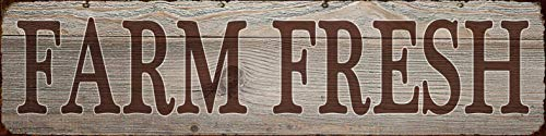 Farm Fresh Retro Vintage Tin Bar Sign Country Home Decor 1575 X 4Decoration Vintage Metal Signs For Home House Yard Door Wall DecorPre Cut Holes For Easy Wall Hanging 0