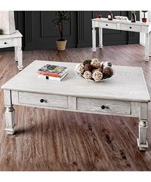 Furniture Of America Vera Rustic Wood Coffee Table In Antique White 0 300x360