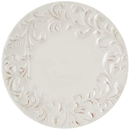 GG 11 D Acanthus Dinner Plate Other Decor 105InL X 11InW X 025InH Cream 0 0