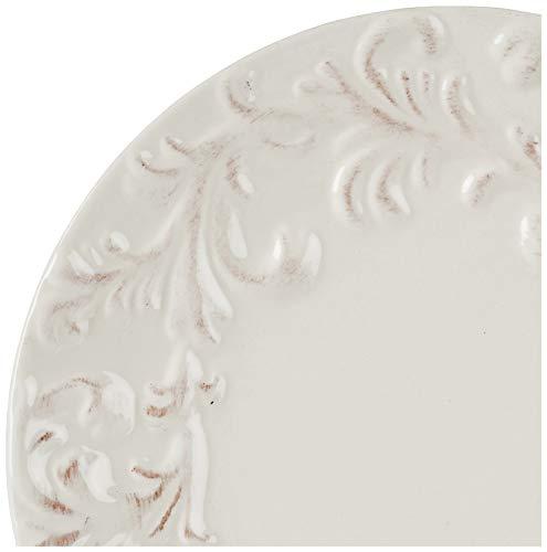GG 11 D Acanthus Dinner Plate Other Decor 105InL X 11InW X 025InH Cream 0 1