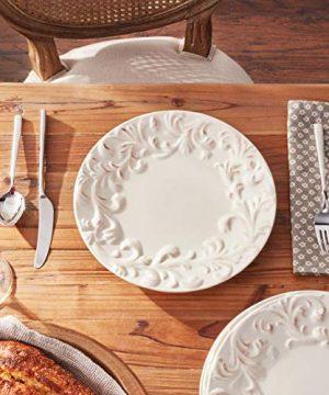 GG 11 D Acanthus Dinner Plate Other Decor 105InL X 11InW X 025InH Cream 0 2 300x360