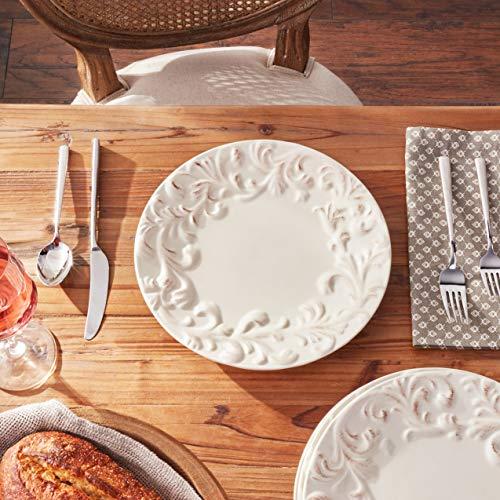 GG 11 D Acanthus Dinner Plate Other Decor 105InL X 11InW X 025InH Cream 0 2