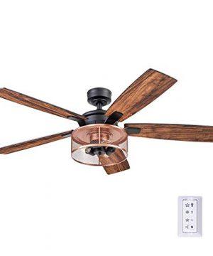 Honeywell Ceiling Fans 51459 01 Carnegie Ceiling Fan 52 Matte Black 0 300x360