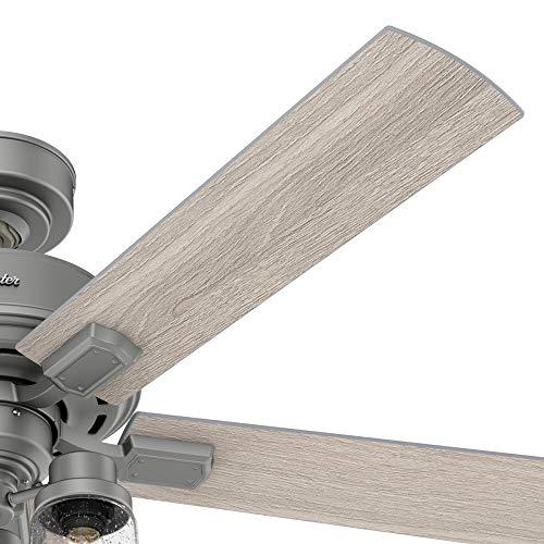 Hunter Fan Company 50651 Hartland Ceiling Fan 52 Matte Silver 0 2