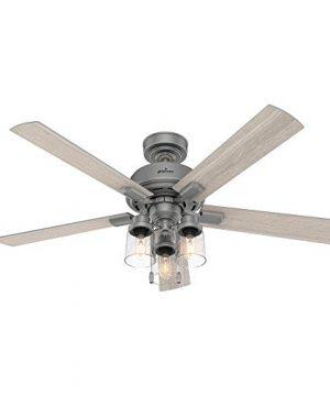 Hunter Fan Company 50651 Hartland Ceiling Fan 52 Matte Silver 0 300x360
