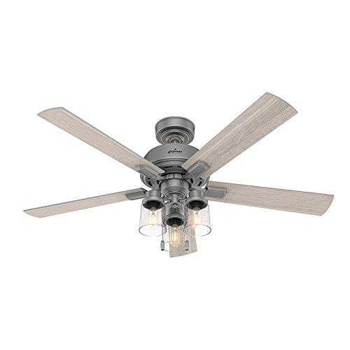 Hunter Fan Company 50651 Hartland Ceiling Fan 52 Matte Silver 0