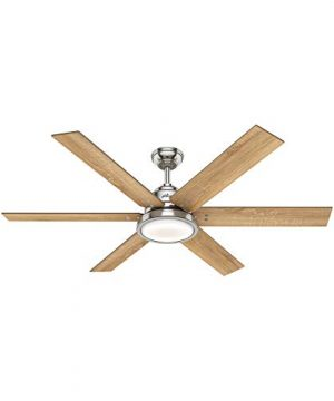 Hunter Warrant Indoor Ceiling Fan With LED Light 60 Brushed Nickel 0 300x360