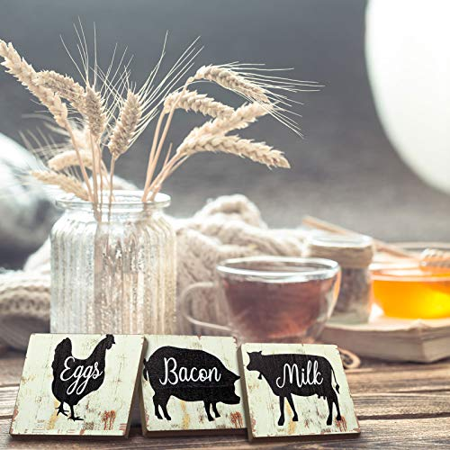 Jetec 3 Pieces Farmhouse Kitchen Signs Cow Rooster And Pig Decors 55 X 39 Inch Rustic Wooden Signs Country Wall Decorations For Kitchen Wall Decor And Home Decor Distressed Colors 0 1