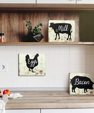 Jetec 3 Pieces Farmhouse Kitchen Signs Cow Rooster And Pig Decors 55 X 39 Inch Rustic Wooden Signs Country Wall Decorations For Kitchen Wall Decor And Home Decor Distressed Colors 0 3 300x360