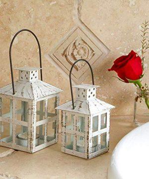 Kate Aspen White Candle Lantern 6 Inch Decorative 0 0 300x360