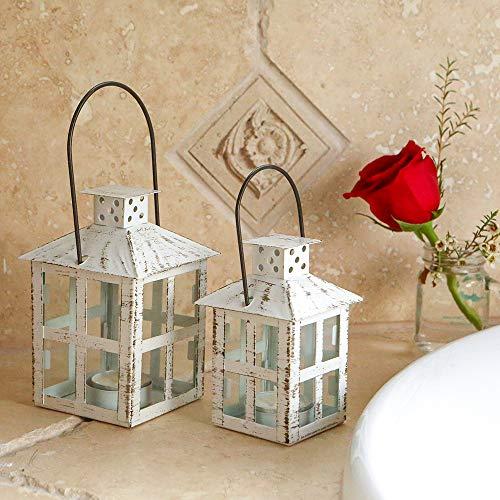 Kate Aspen White Candle Lantern 6 Inch Decorative 0 0