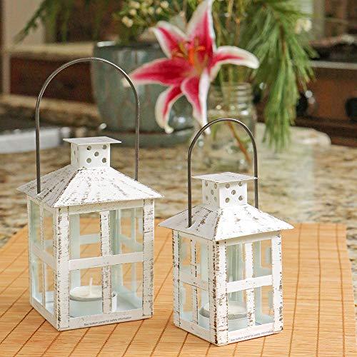 Kate Aspen White Candle Lantern 6 Inch Decorative 0 1