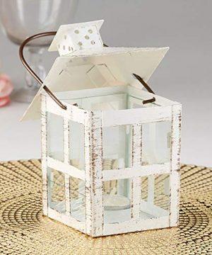 Kate Aspen White Candle Lantern 6 Inch Decorative 0 2 300x360