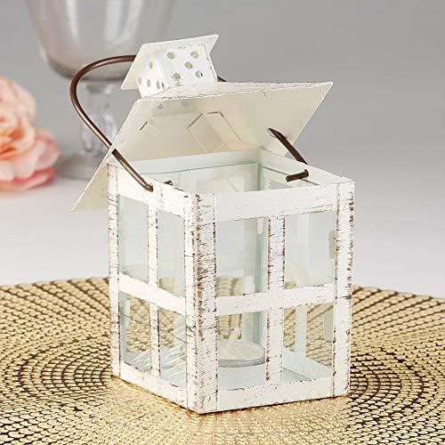 Kate Aspen White Candle Lantern 6 Inch Decorative 0 2
