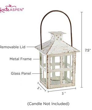 Kate Aspen White Candle Lantern 6 Inch Decorative 0 3 300x360