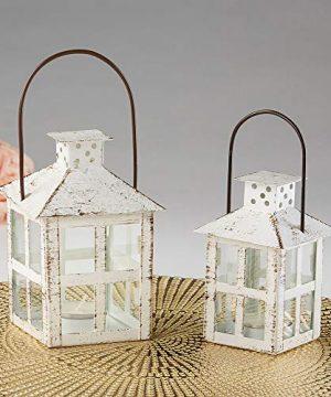 Kate Aspen White Candle Lantern 6 Inch Decorative 0 4 300x360