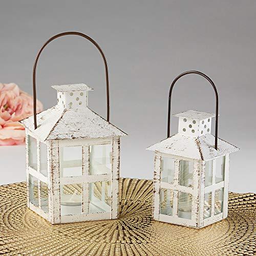 Kate Aspen White Candle Lantern 6 Inch Decorative 0 4