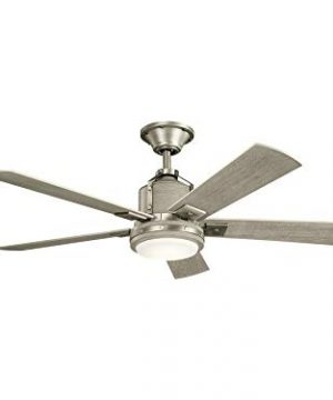 Kichler 300052NI Colerne 52 Ceiling Fan With LED Lights And Wall Control Brushed Nickel 0 300x360
