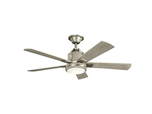 Kichler 300052NI Colerne 52 Ceiling Fan With LED Lights And Wall Control Brushed Nickel 0