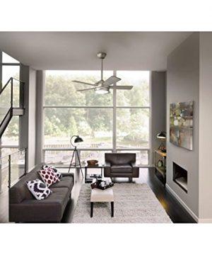 Kichler 330180NI Starkk LED Brushed Nickel 60 Ceiling Fan With Light 0 0 300x360