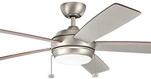 Kichler 330180NI Starkk LED Brushed Nickel 60 Ceiling Fan With Light 0 2 300x158