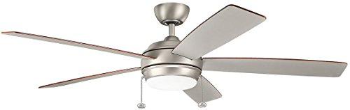 Kichler 330180NI Starkk LED Brushed Nickel 60 Ceiling Fan With Light 0 2