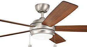 Kichler 330180NI Starkk LED Brushed Nickel 60 Ceiling Fan With Light 0 300x164